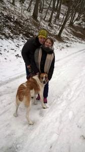 elsa en ballade à la neige